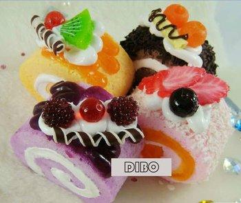 Free Shipping/New Sweet Cake squishy charm/cell phone strap/mobile phone chain/Handbag Pendant/key chain/Wholesale 8740