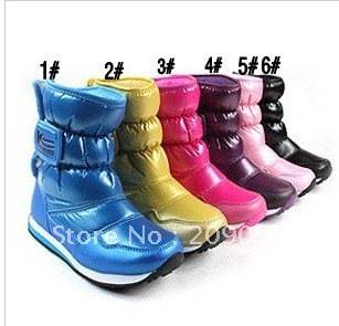 Boys and girls waterproof boots snow boots / snow boots children&#39;s parents aaa100(China (Mainland))