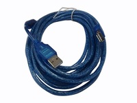 4pcs/lot USB Male to Female Extension USB Cable 5M/15ft with signal magnetic ring, hot sale shipping via EMS or DHL