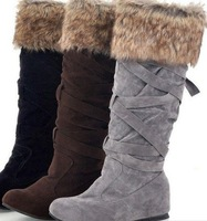 2011 LAST WINTER MASSIVE STOCK CLEAR OUT ! Fashion Snow boots wedge boots Cross belt Princess warm boots style