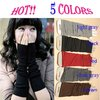Fashion women's gril Warmer Knit Wrist Arm Fingerless Long Mitten Gloves soft Stretchy fashion 5 color(China (Mainland))