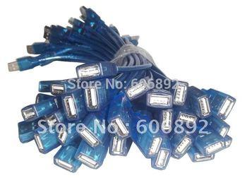 USB Male to Female Extension mini USB Cable 30cm USB Cable 35pcs/lot t hot sale