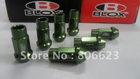 Blox Forged 7075 Aluminum Lug Nuts 12x1.25 GREEN