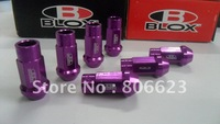 Lug Nuts 12x1.25m(20Pcs/Set) BLOX 7075 Aluminum Purple