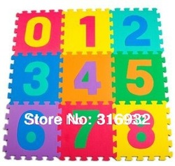 Baby Floor Mat Children's Environmental Tasteless Eva Foam Mat Eva Mats, pattern: number, 10pcs/pack(China (Mainland))