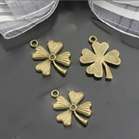 stainless steel jewelry parts 23*18mm vintage flower charms 30pcs / lot free shipping