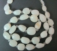And nephrite material necklace length 56 cm seed weight 46 g tablets of about 1.5X1.2X1CM