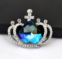 New arrived  Hot Sale!!! Wholesale Fashion Shine Alloy & Rinestone Elgant Purple Multicolor Crown Mobile Phone Beauty