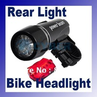 Hot selling 2in1 LED Bike Bicycle Head Light+Rear Flashlight 184