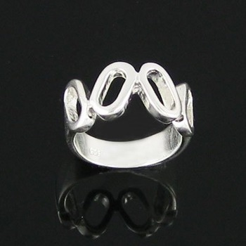 Factory price free shipping fashion silver wedding rings jewelry female party rings good quality