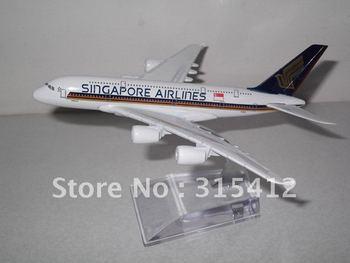 Free Shipping!!AMAZING 16CM METAL A380 Singapore Airlines PLANE MODEL,passenger plane model,Christmas gift