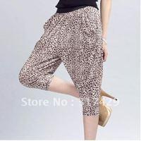Korean filament-ation capris Pants / wide waist Haren pants Brown Leopard Filament models pant  hot sales / free shipping