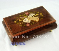WHOLESALE!!!!!! 2013 New style wooden jewelry box music box for birth-day,valentine's day,Christmas,boyfriend,girlfriend.