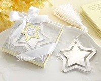 """A Star is Born!"" Metal Bookmark with White-Silk Tassel ;wedding favor and gifts;"