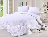 new 3kg Gross weight wool duvet comforter cheaper Organic Wool Heavyweight white/pink 100% Cotton shell Comforter for winter