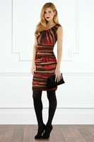 Вечернее платье 2012 Perfect Printed Square Neckline Ellison Dress 110310CT01
