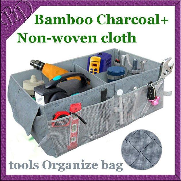 Car Boot Tidy Tools Organize Bag Auto Storage Box Organiser Organizer made of Bamboo Charcoal Fabric
