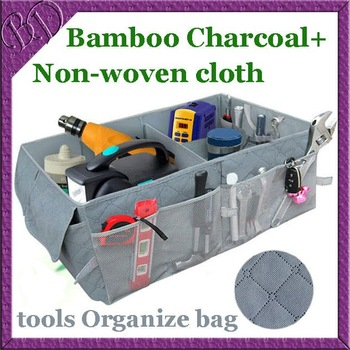 Car Boot Tidy Tools Organize Bag Auto Storage Box Organiser Organizer made of Bamboo Charcoal Fabric