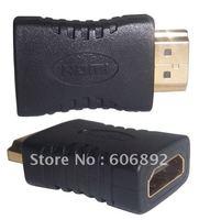 Mini HDMI Adapter extend Converter, HDMI female to HDMI male, 5PCS/lot, HD 1080P,Free shipping