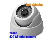CCTV camera, CCD IR Color 420TVL 24LED dome Camera