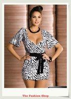 FREE SHIPPING Hot Sale Fashion Ladies' Mini Dress Sexy Women Club Dresses OK6073 Size M