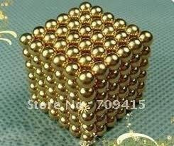 Promotion 5mm 216 sliver/gold  NEOCUBE BALLS,MAGNETIC NEO NEODYMIUM CUBE MAGNET BALLS,Wholesale