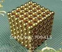 Promotion 5mm 216 sliver/gold  NEOCUBE BALLS,MAGNETIC NEO NEODYMIUM CUBE MAGNET BALLS,Wholesale