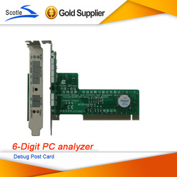 Cheap PC Motherboard PCI PCI Test Card PC Analyzer 6Bit Diagnostic Post Test Debug Post Card(China (Mainland))