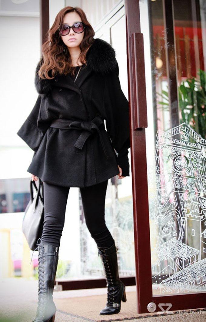 Ladies Black Coats Sale