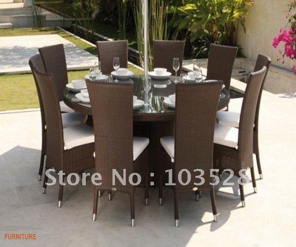 Comparer les prix sur round rattan table online shopping for Set de table en osier