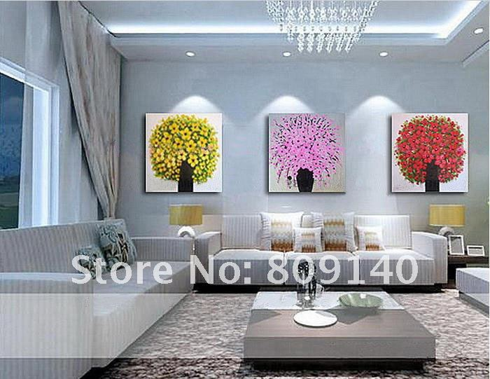 Free shipping painting beautiful flower new oil painting for Quality home decor