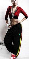 Free shipping!!Hot HIP HOP street dancing/Soft Shell pants/street dancewear/embroidery REGGAE-colourful