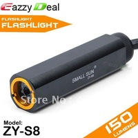 Small Sun ZY-S8 1 Mode 50 Lumen White Light LED Flashlight with Wrist Strap (Black) [1710089]