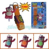 Free Shipping 12/Lot Toy Story Lots Huggin Bear Flash Cell Phone Strap Wholesale