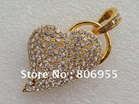 Free Shipping Guaranteed Full Capacity Jewellry Partial-core USB Flash Memory Drive 2gb 4gb 8gb 16gb 32gb 64gb