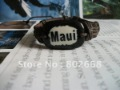 MAUI DIY bangles jewelrys Wristband Leather pu wrist band Jewelry ID Bracelets free shipping