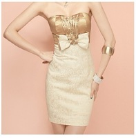 Yiwu-TOPSHOP 2012 Fashion Sexy OEM Dresses Women Lady corset Prom Evening Dress bridesmaid Dress Demitoilet