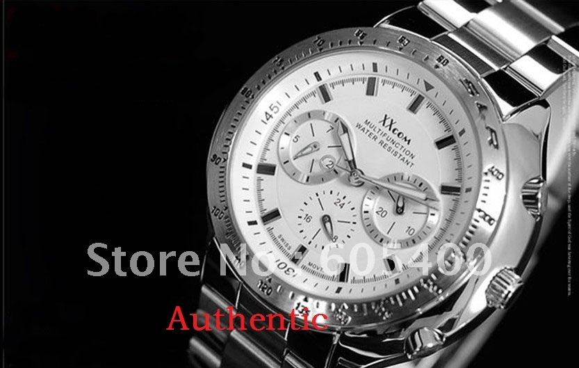 Multifunctional needle six men watch ,free shipping(China (Mainland))