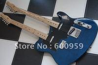 Sea Blue Double neck Tele 6/6 electric Guitar combo #894