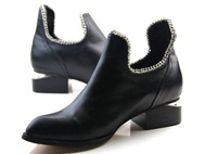 Free Shipping  Fashion women western women Motorcycle/cowboy Boots Genuine leather ,size 4-8