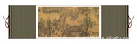 Hot sale 100% Handmade High Quality 140*45 Ancient Horizontal Scroll Painting of Landscape SS-18,silk,New Arrivals,Free shipping