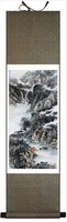 Hot sale 100% High Quality 140*45 Vertical Scroll Scenery Painting of Hua Mountain SS-22,silk,New Arrivals,Free shipping