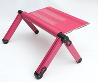 Aluminium alloy laptop stand, folding laptop desk, adjustable laptop table