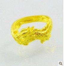Wonderful yellow gold filled men's dragon  ring(China (Mainland))