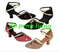 Wholesale Women's Dance Shoes lady's Latin dance Shoes Ballroom shoes 6cm High Heels 10 Style Size 34-40 10pcs Free Shipping