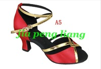 Best Selling  Women's Dance Shoes lady's Latin dance Shoes Ballroom shoes 6cm High Heels 5 Style Size 34-40 Free Shipping