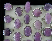 Free shipping US$57.89 for 50pcs mixed style mixed size Amethyst ring