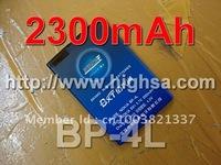 2300mAh BP-4L / BP 4L High Capacity Battery Use for Nokia E71/E63/E72/E52/E55/E75/N97 etc Mobile Phones