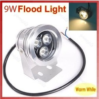 Free Shipping Wholesale Waterproof IP68 9W White/Warm White LED Flood Light Outdoor Garden Project Lamp 110-240V 9W spot light