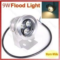 Free Shipping Wholesale Waterproof IP68 9W White/Warm White LED Flood Light Outdoor Garden Project Lamp 110-240V 9W spot light